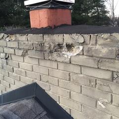 chimney crown repair needed